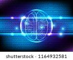 vector artificial intelligence... | Shutterstock .eps vector #1164932581