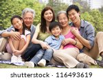 portrait of multi generation... | Shutterstock . vector #116493619