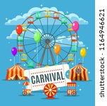 carnival fun park poster....   Shutterstock .eps vector #1164946621