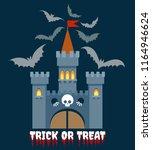 halloween castle vector...   Shutterstock .eps vector #1164946624
