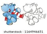 vector illustration of a cute... | Shutterstock .eps vector #1164946651