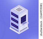 simple isometric design of... | Shutterstock . vector #1164955081