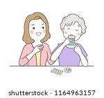 vector illustration character... | Shutterstock .eps vector #1164963157