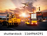 logistics and transportation of ... | Shutterstock . vector #1164964291