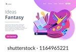 open book  user flying in space ... | Shutterstock .eps vector #1164965221