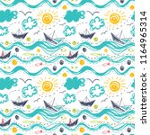 seamless pattern in the concept ... | Shutterstock .eps vector #1164965314