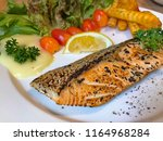 healthy home made salmon slice... | Shutterstock . vector #1164968284