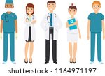 set of medical staff with many... | Shutterstock .eps vector #1164971197