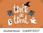 happy halloween background... | Shutterstock .eps vector #1164972517