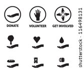 charity icon pack   donate ... | Shutterstock .eps vector #116498131