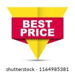red vector banner best price | Shutterstock .eps vector #1164985381