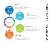 infographic template with... | Shutterstock .eps vector #1164985897