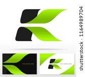 letter k logo design vector... | Shutterstock .eps vector #1164989704