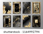 set of elegant brochure  card ... | Shutterstock .eps vector #1164992794