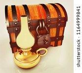 retro kerosene lamp and old... | Shutterstock . vector #1164999841