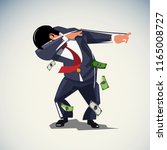 dabbing or dab businessman ... | Shutterstock .eps vector #1165008727