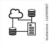 cloud database icon  data base... | Shutterstock .eps vector #1165009807