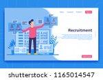 recruitment landing page... | Shutterstock .eps vector #1165014547