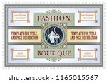 template flyer  invitations or...   Shutterstock .eps vector #1165015567
