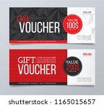gift voucher with background | Shutterstock .eps vector #1165015657