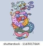 cartoon illustration for print... | Shutterstock .eps vector #1165017664