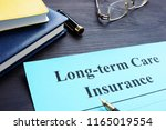 long term care insurance policy ... | Shutterstock . vector #1165019554