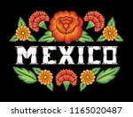 mexico illustration typography... | Shutterstock .eps vector #1165020487