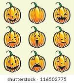 holiday pumpkin jack lantern... | Shutterstock . vector #116502775