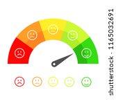 customer satisfaction meter... | Shutterstock . vector #1165032691