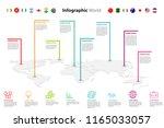 world map element  infographic  ...   Shutterstock .eps vector #1165033057