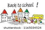 back to school  school children ... | Shutterstock .eps vector #1165034524