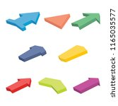 set of eight colorful isometric ... | Shutterstock .eps vector #1165035577