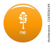 pine tree icon. simple... | Shutterstock .eps vector #1165036144