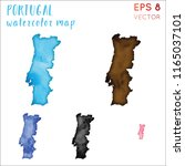 portugal watercolor country map.... | Shutterstock .eps vector #1165037101
