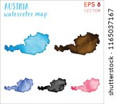 austria watercolor country map. ... | Shutterstock .eps vector #1165037167