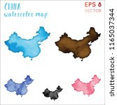 china watercolor country map.... | Shutterstock .eps vector #1165037344