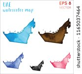 uae watercolor country map.... | Shutterstock .eps vector #1165037464