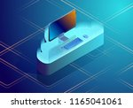 cloud data storage abstract... | Shutterstock .eps vector #1165041061