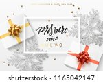 christmas background with gifts ... | Shutterstock .eps vector #1165042147