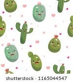 cute cacti in the style of... | Shutterstock .eps vector #1165044547