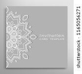 invitation or card template... | Shutterstock .eps vector #1165056271