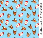 seamless pattern of cute... | Shutterstock .eps vector #1165058884