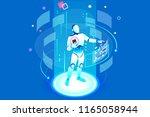 flat isometric banner  ai of... | Shutterstock .eps vector #1165058944