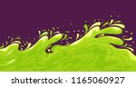 vector image of green liquid... | Shutterstock .eps vector #1165060927