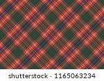 tartan pixel check texture... | Shutterstock . vector #1165063234