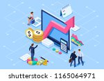 financial administration... | Shutterstock .eps vector #1165064971