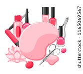 background with manicure tools. ...   Shutterstock .eps vector #1165069567