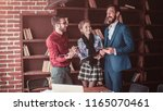 business team with documents... | Shutterstock . vector #1165070461