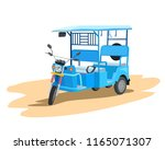Illustration of e-Rickshaw