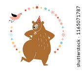 birthday card design  greeting ... | Shutterstock .eps vector #1165071787